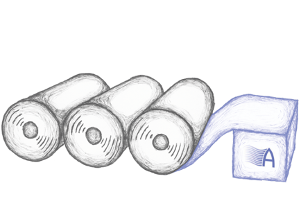 illustration of rolls of steel