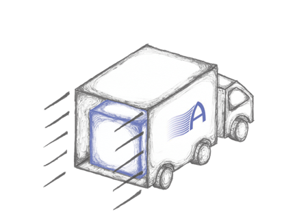 illustration of delivery van