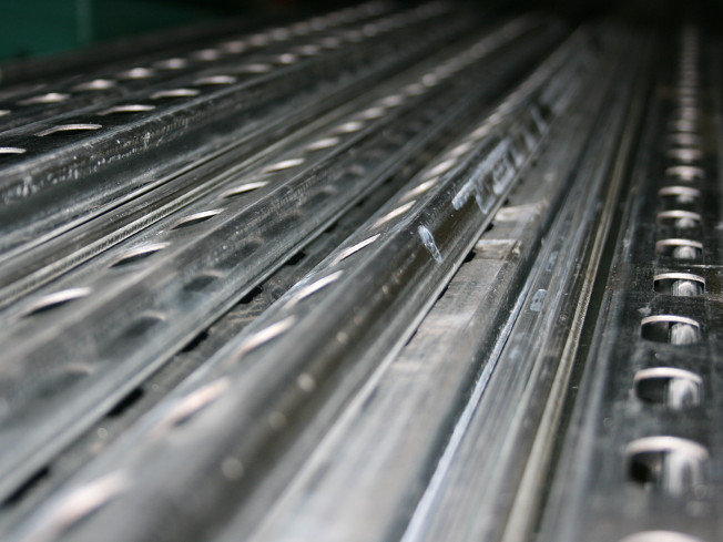 hole punched metal strips