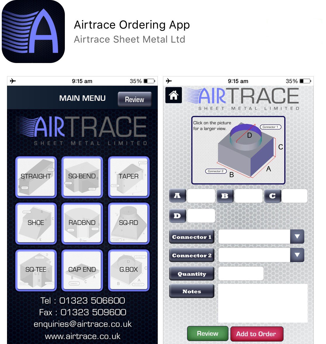 Airtrace Apple App
