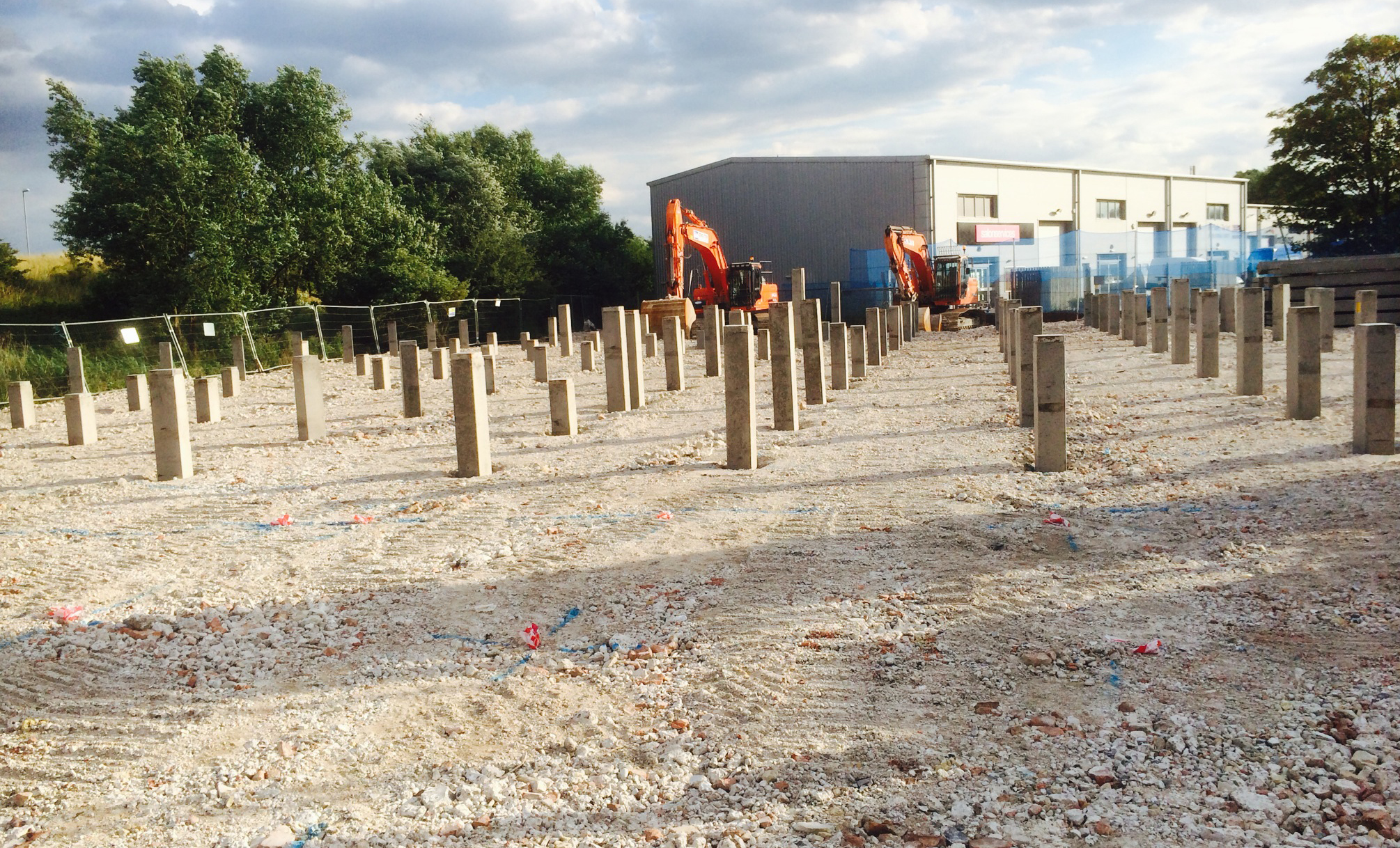 Piling commences for our factory